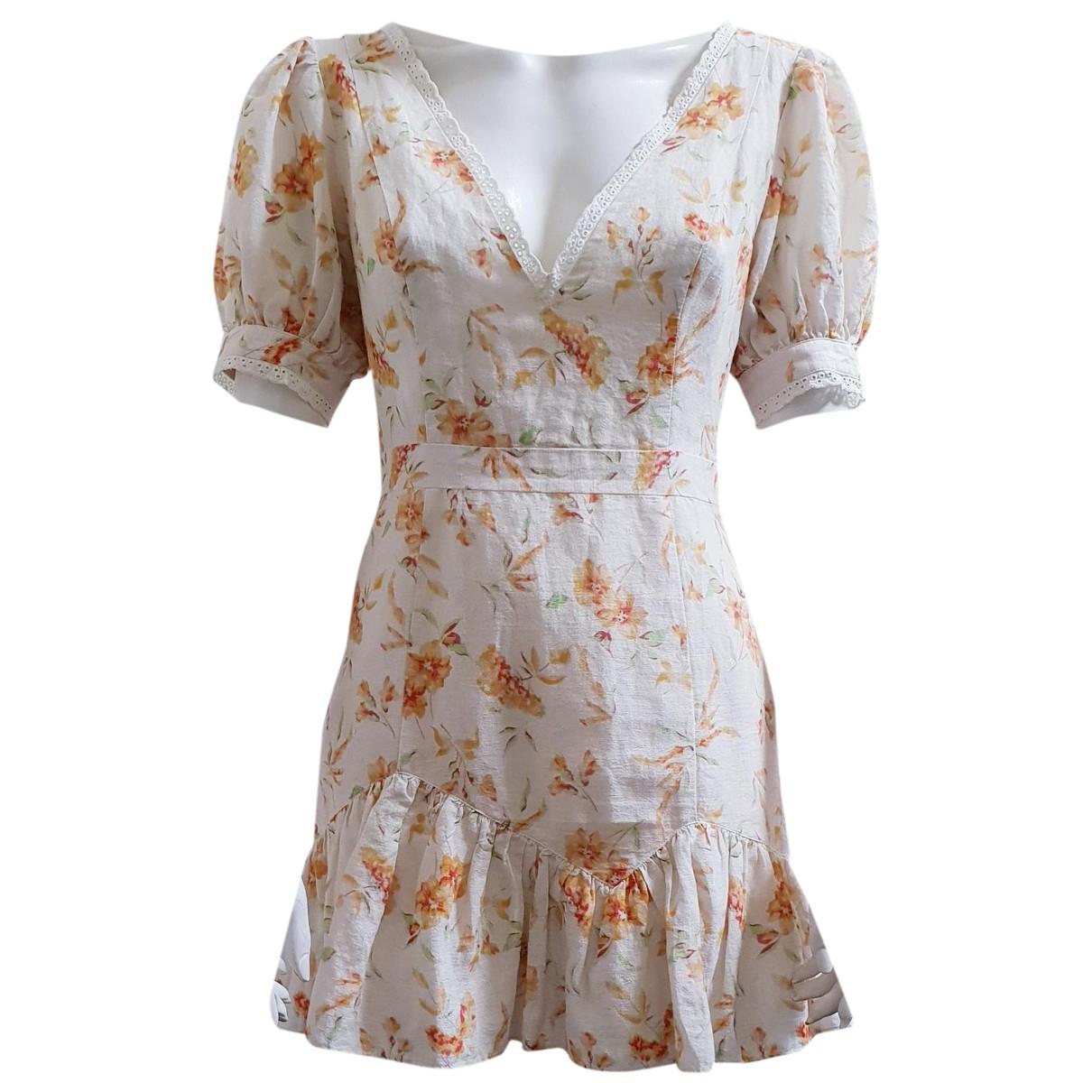 Love Shack Fancy \N Kleid in  Weiss Baumwolle