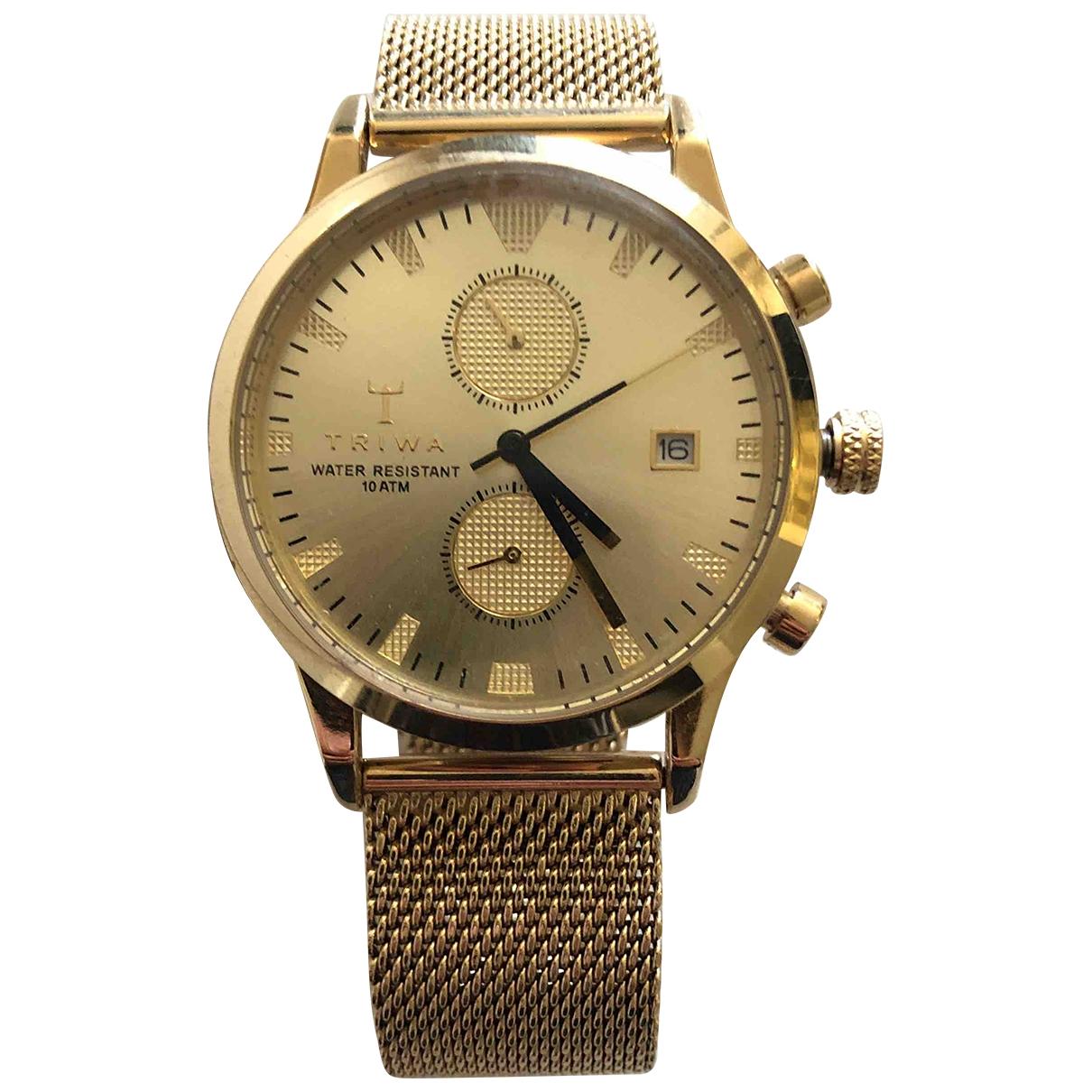 Triwa \N Uhr in  Gold Stahl