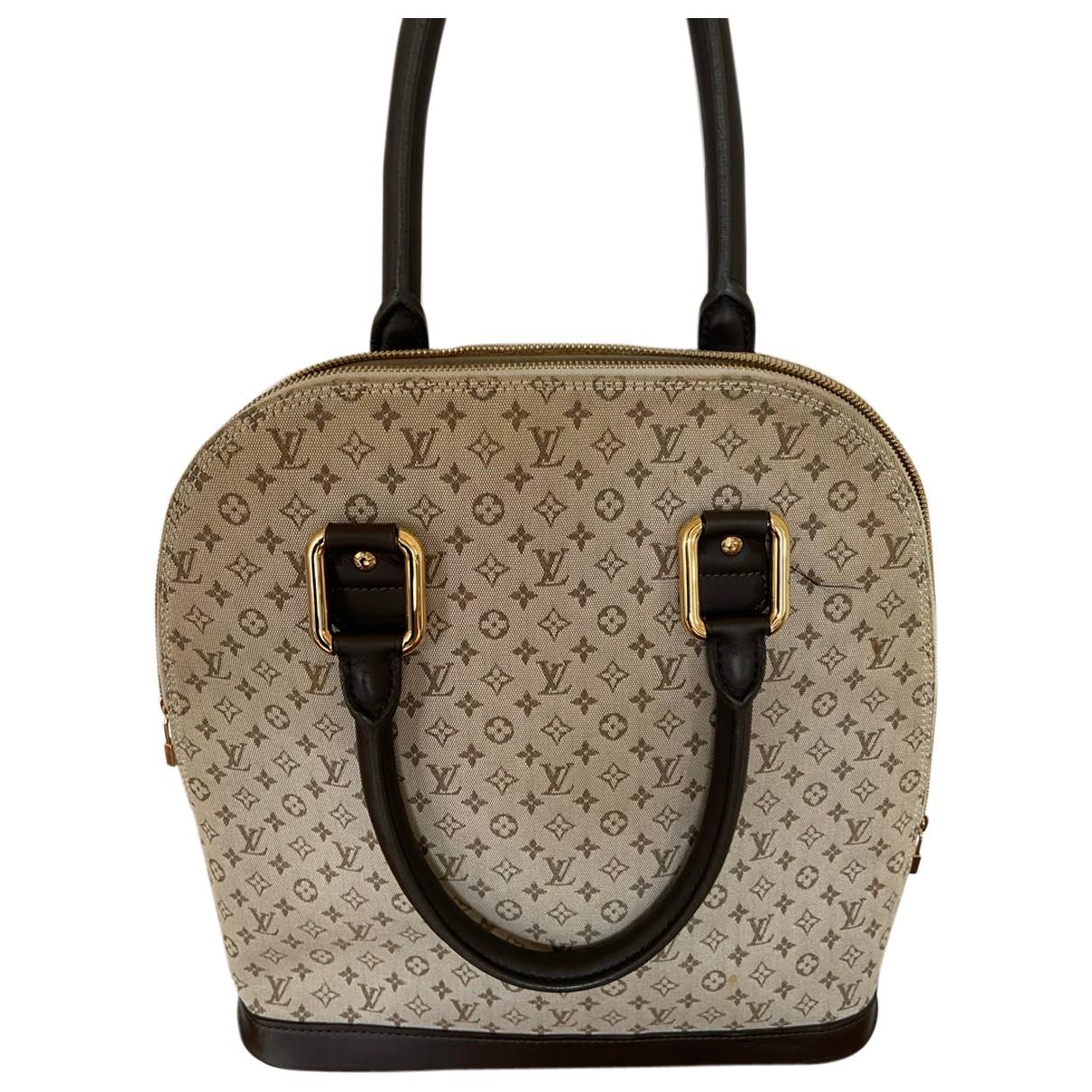 Louis Vuitton Alma Handtasche in  Beige Leinen