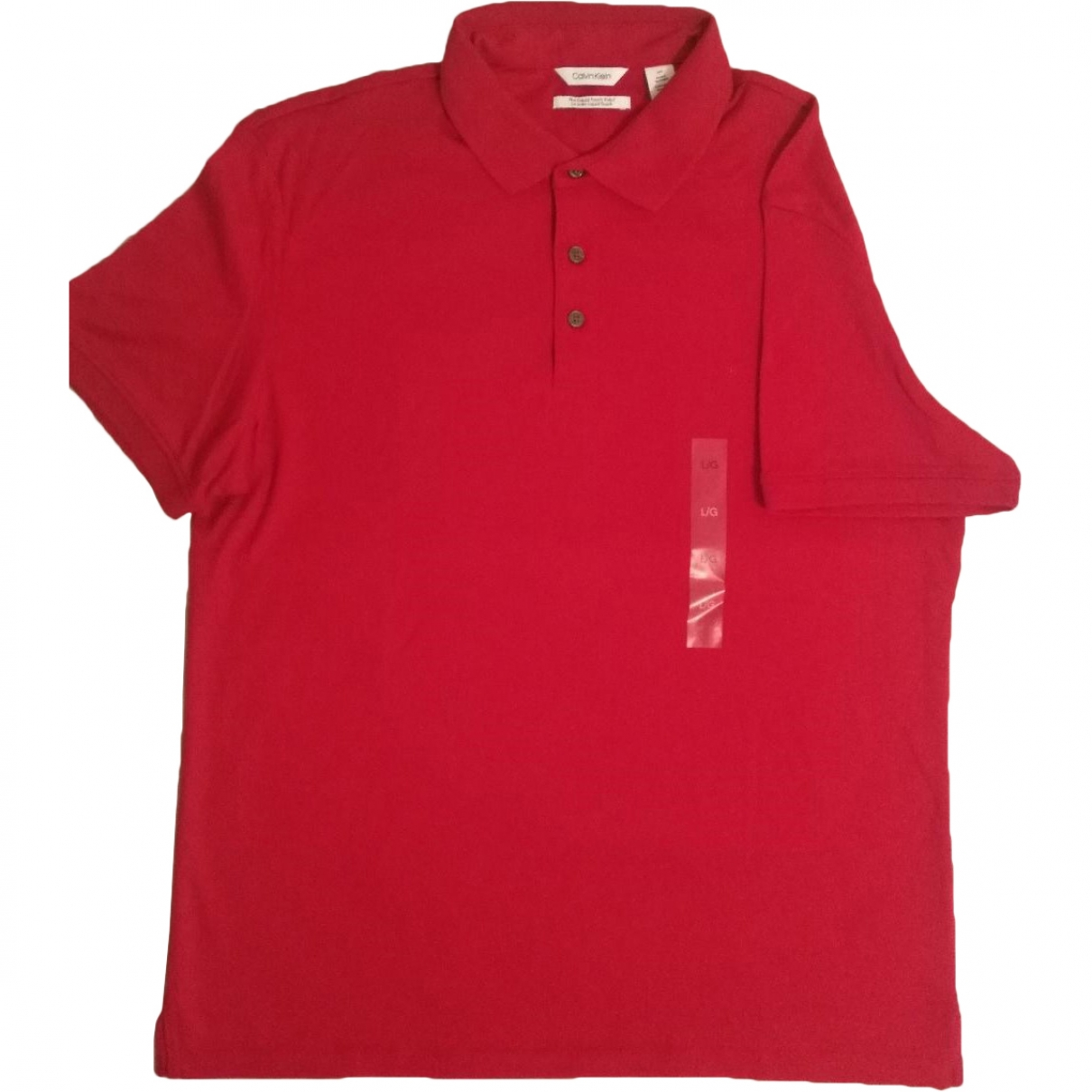 Calvin Klein \N Red Cotton Polo shirts for Men L International