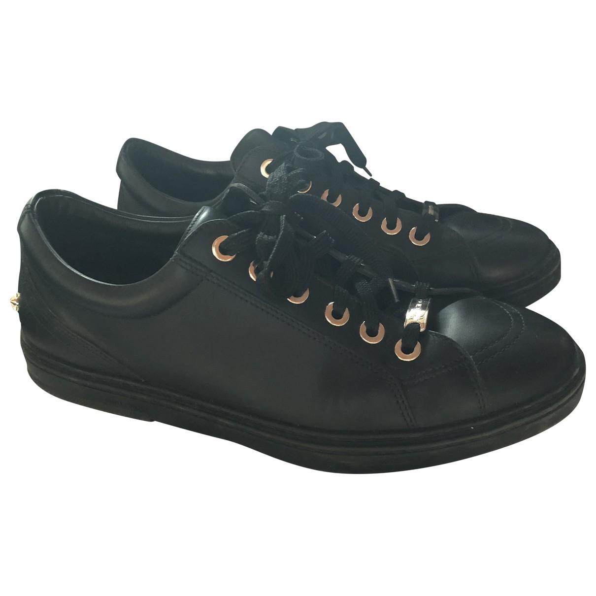 Jimmy Choo - Baskets   pour homme en cuir - noir