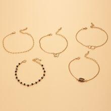 5pcs Bead Shell Decor Bracelet