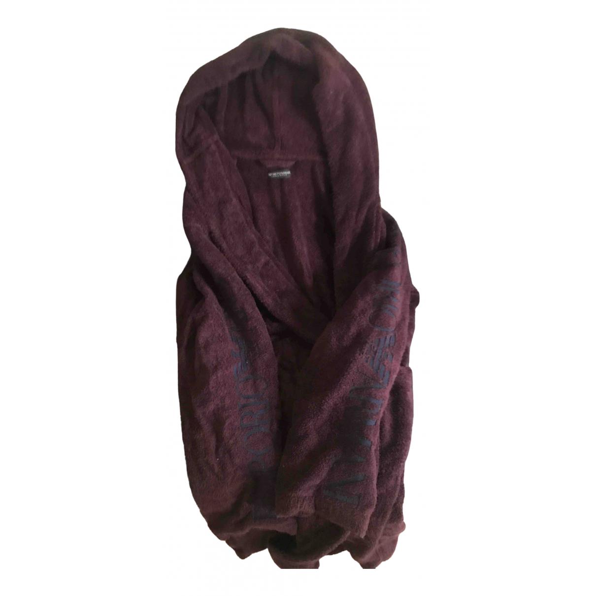 Emporio Armani \N Burgundy Cotton Knitwear & Sweatshirts for Men M International