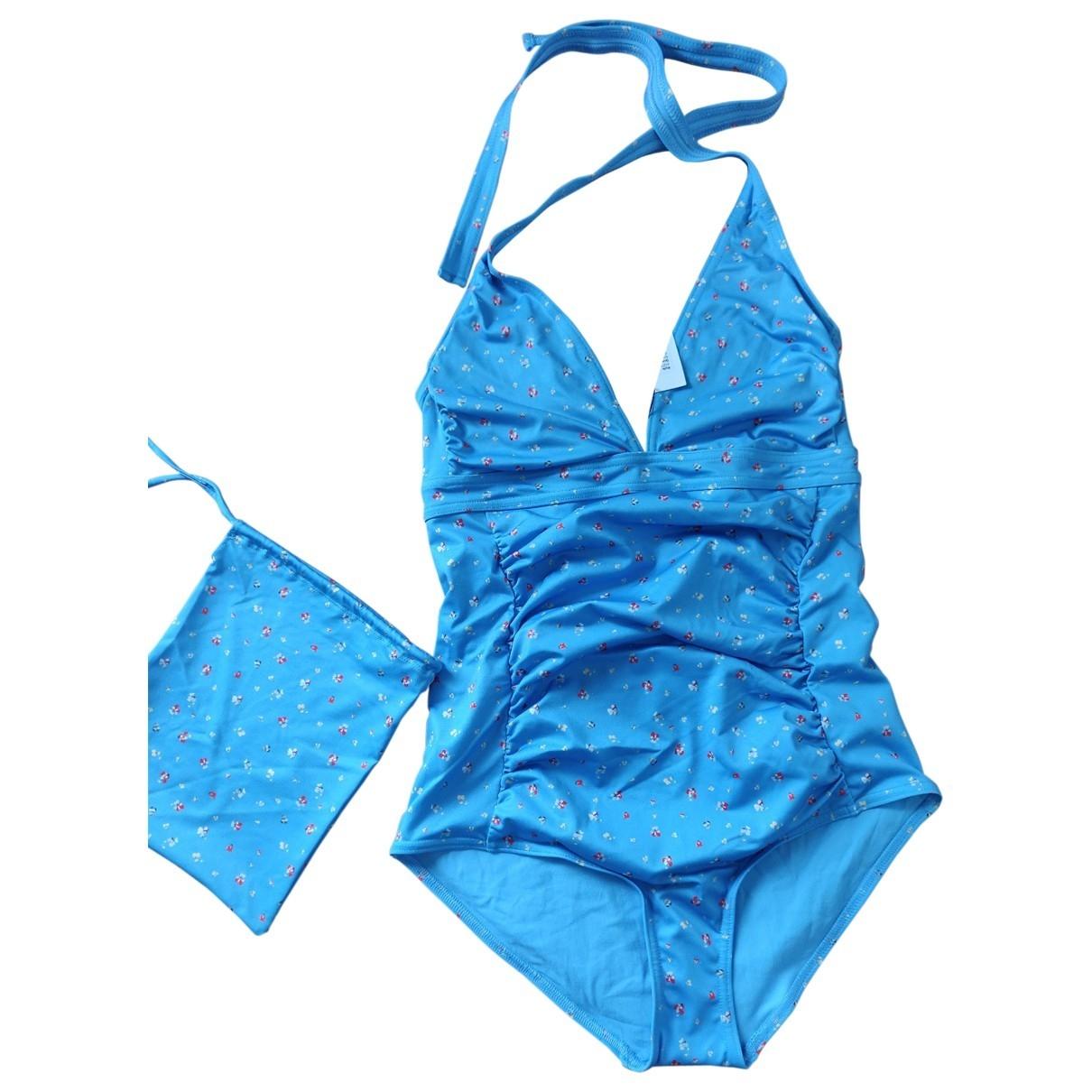 Ganni \N Badeanzug in  Blau Polyester