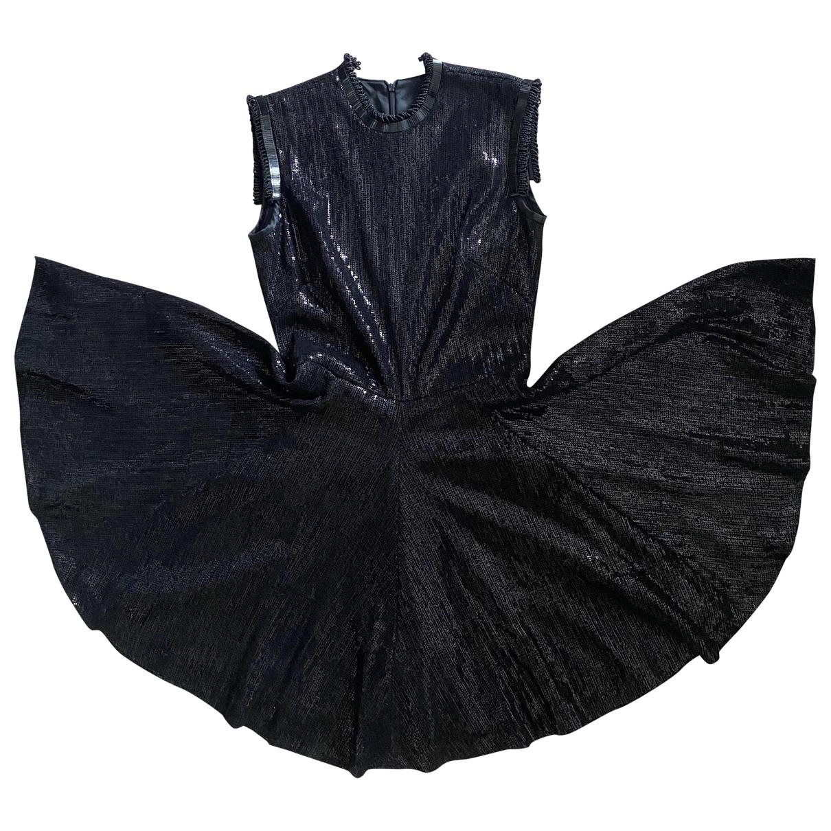 Plein Sud - Robe   pour femme en a paillettes - noir