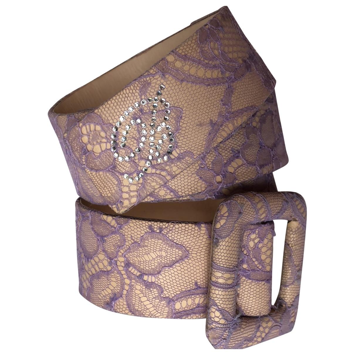 Blumarine \N Purple Leather belt for Women 90 cm