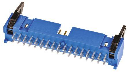 TE Connectivity , AMP-LATCH, 34 Way, 2 Row, Straight PCB Header