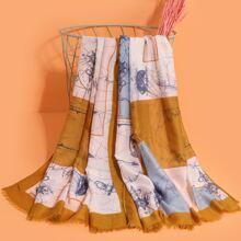 Schal mit Anker Muster