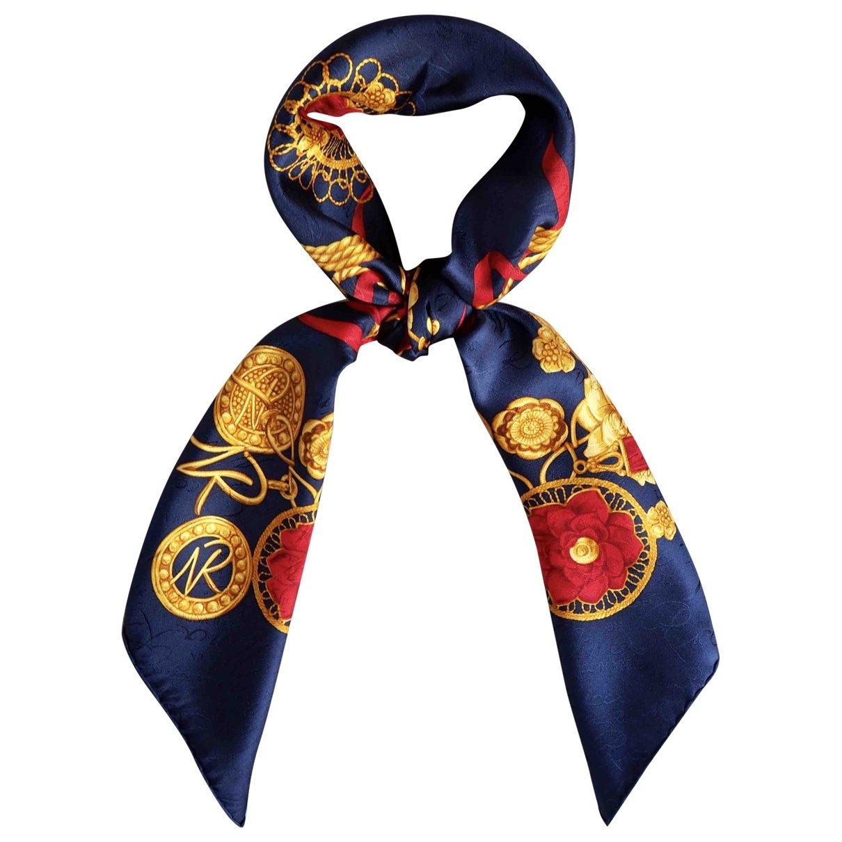 Nina Ricci \N Navy Silk Silk handkerchief for Women \N