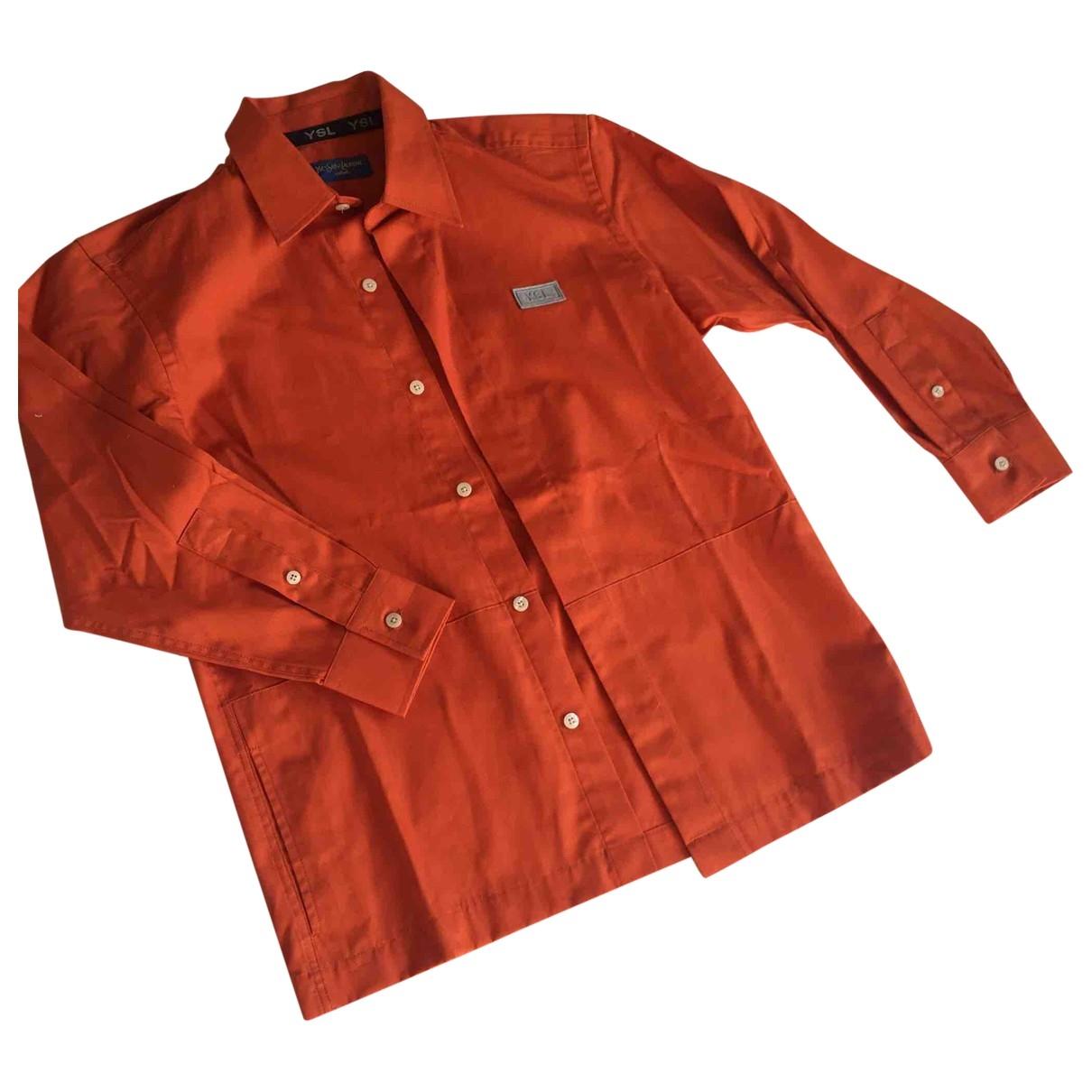 Yves Saint Laurent \N Oberteile in  Orange Baumwolle