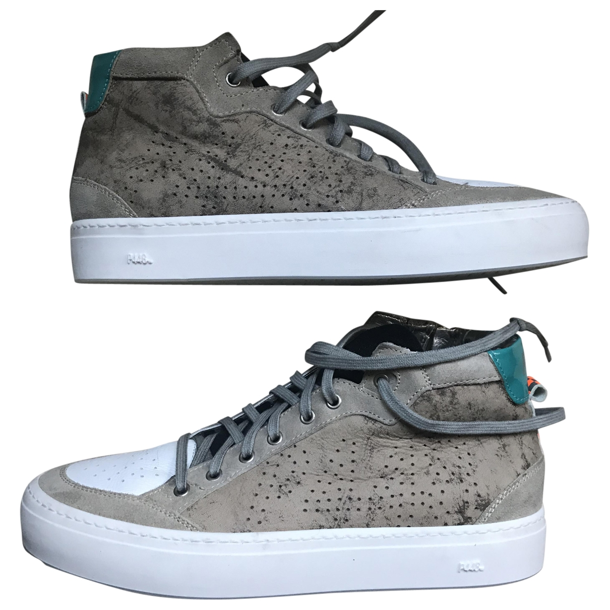 Non Signé / Unsigned \N Beige Leather Trainers for Men 42 EU