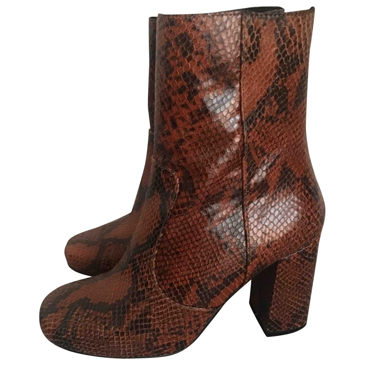 Kurt Geiger - Boots   pour femme en cuir - multicolore