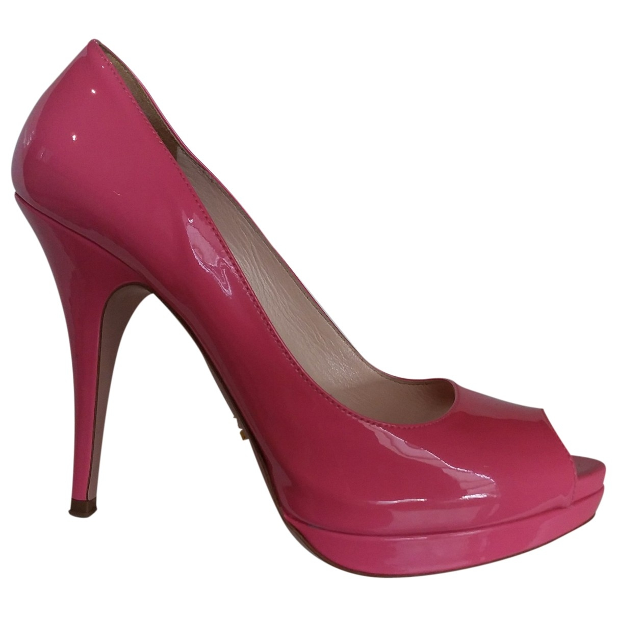 Prada \N Pink Patent leather Heels for Women 38.5 EU