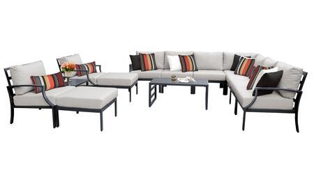 Lexington LEXINGTON-13a-ASH 13-Piece Aluminum Patio Set 13a with 1 Left Arm Chair  1 Right Arm Chair  2 Club Chairs  1 Corner Chair  4 Armless Chairs