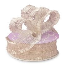Mesh Ivory Olivia Fabric Ribbon - 1-1/2 X 25yd - Greeting Cards by Paper Mart