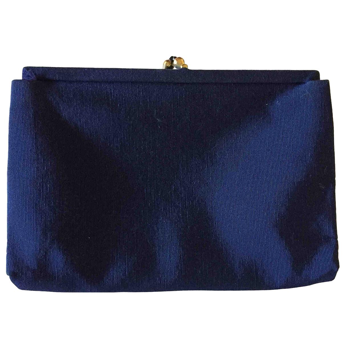 - Pochette   pour femme en toile - bleu