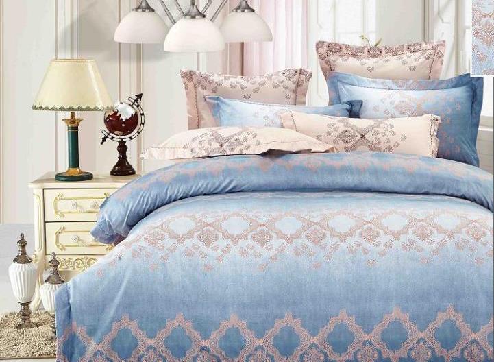 Luxury Blue Lake Pattern 4-Piece Bedding Sets/Duvet Cover
