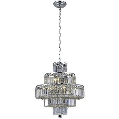 V2038D20C/RC Maxime 13 Light Chrome Chandelier Clear Royal Cut