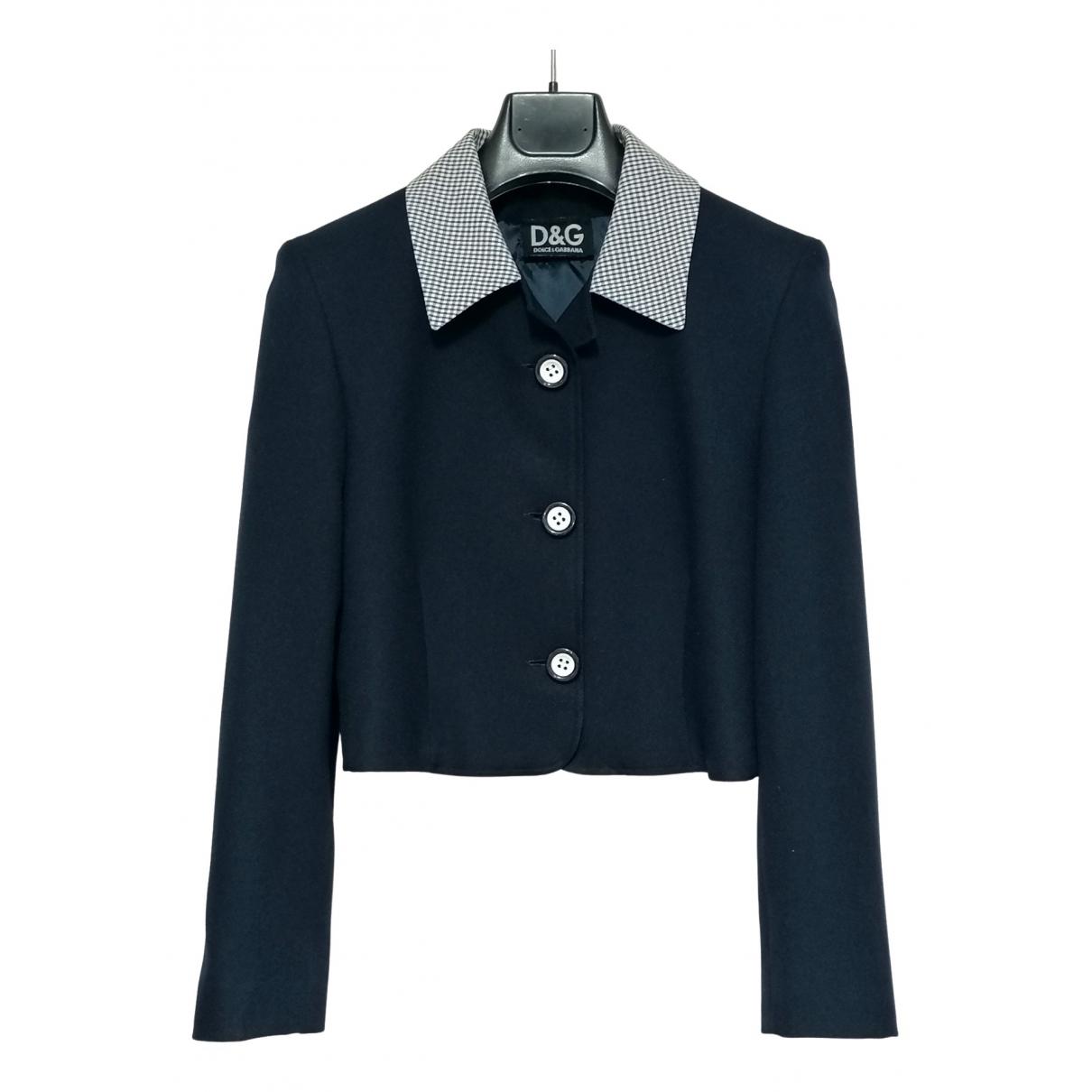 D&g \N Blue Cotton jacket for Women 42 IT