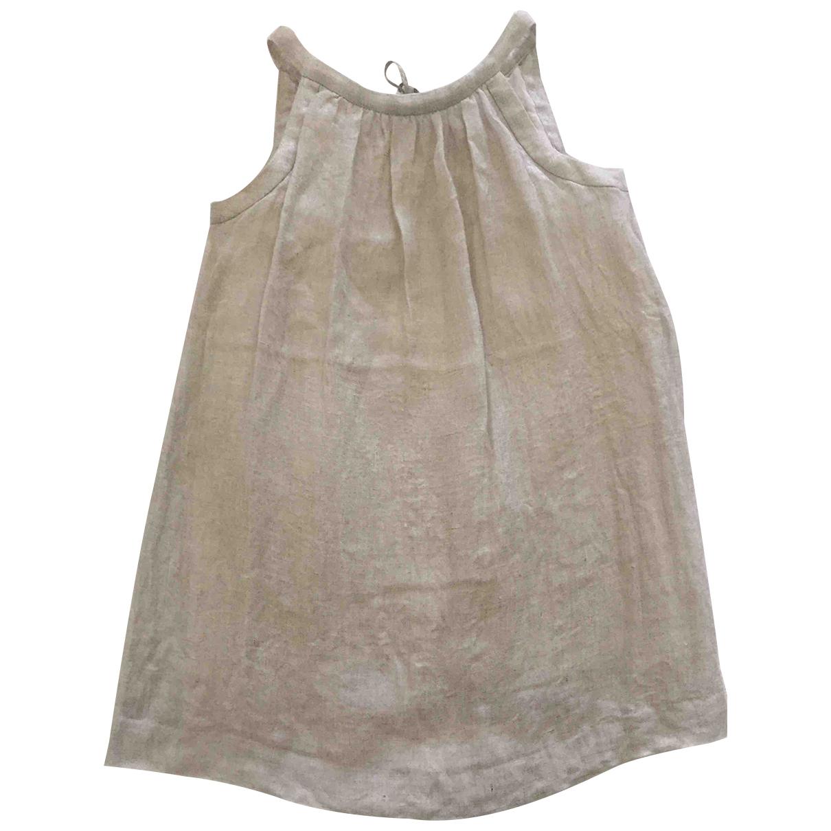 Bonpoint - Robe    pour enfant en lin - argente