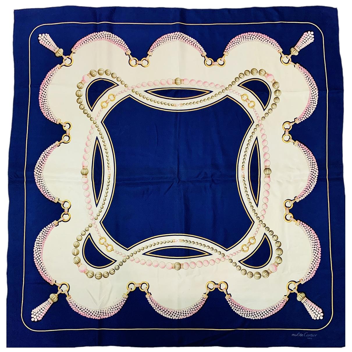 Cartier \N Tuecher in  Blau Seide