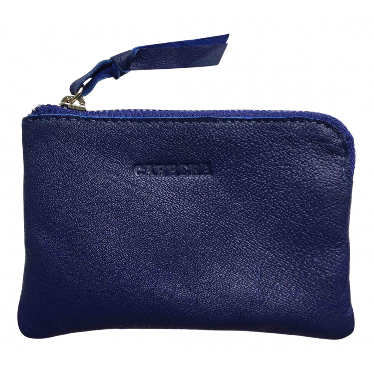 Carrera \N Blue Leather Small bag, wallet & cases for Men \N