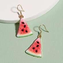 Ohrringe mit Wassermelone Detail