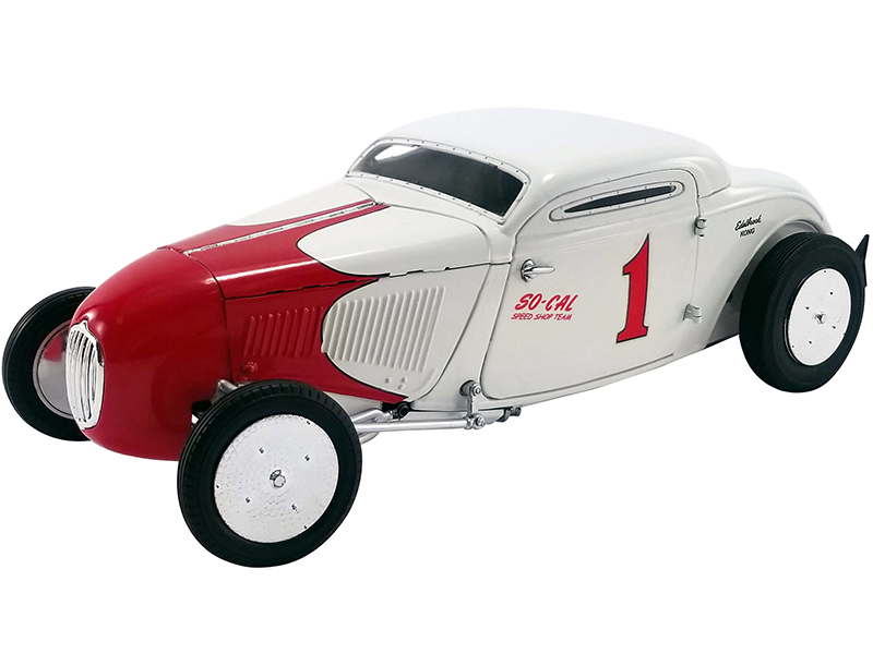 1934 Salt Flat Coupe 1 White and Red