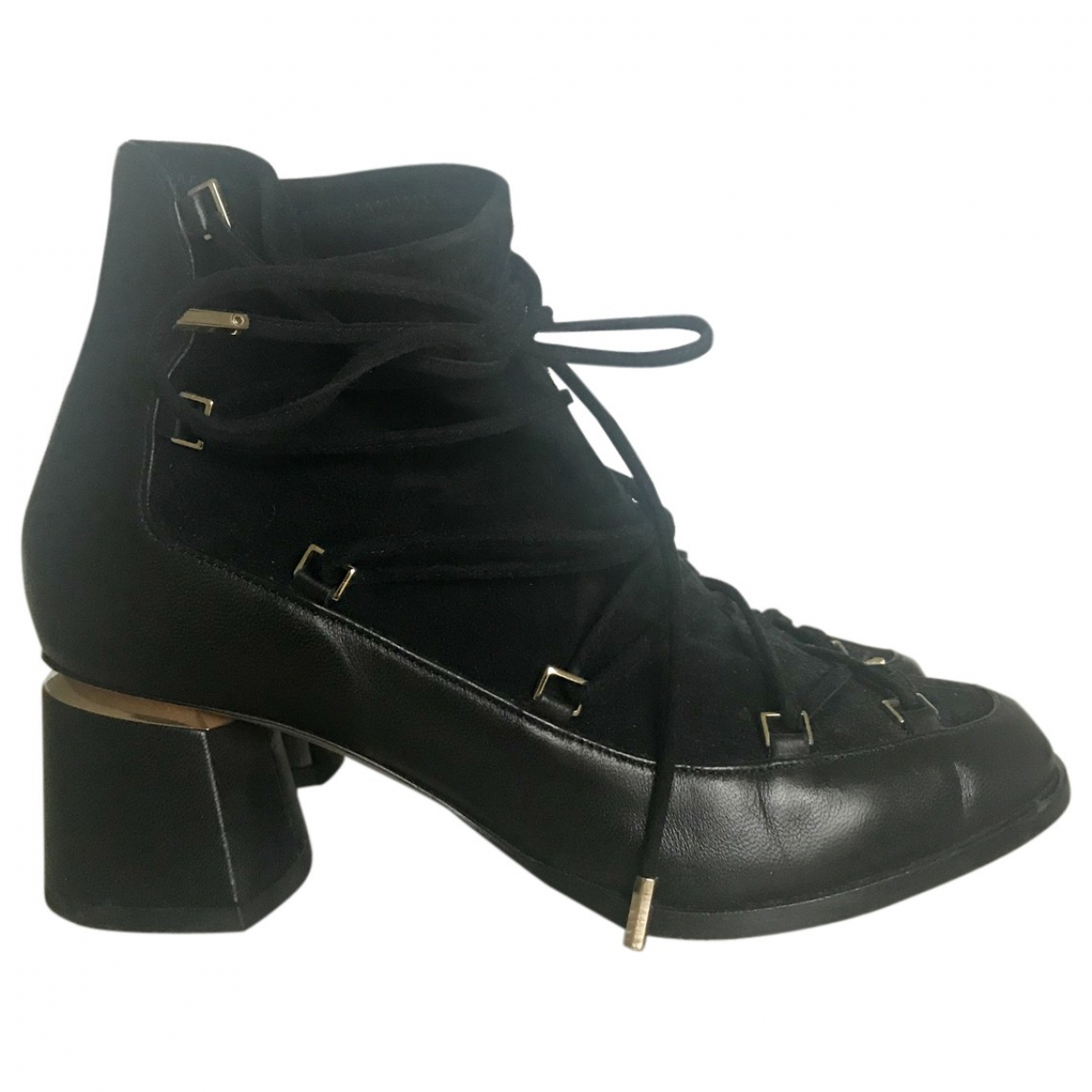 Nicholas Kirkwood N Black Leather Ankle boots for Women 35 EU