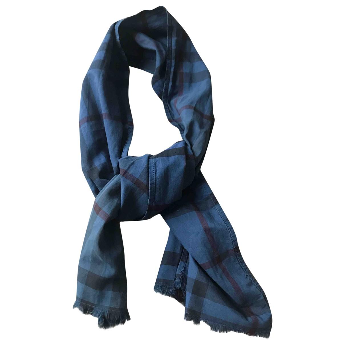 Burberry \N Tuecher, Schal in  Blau Baumwolle