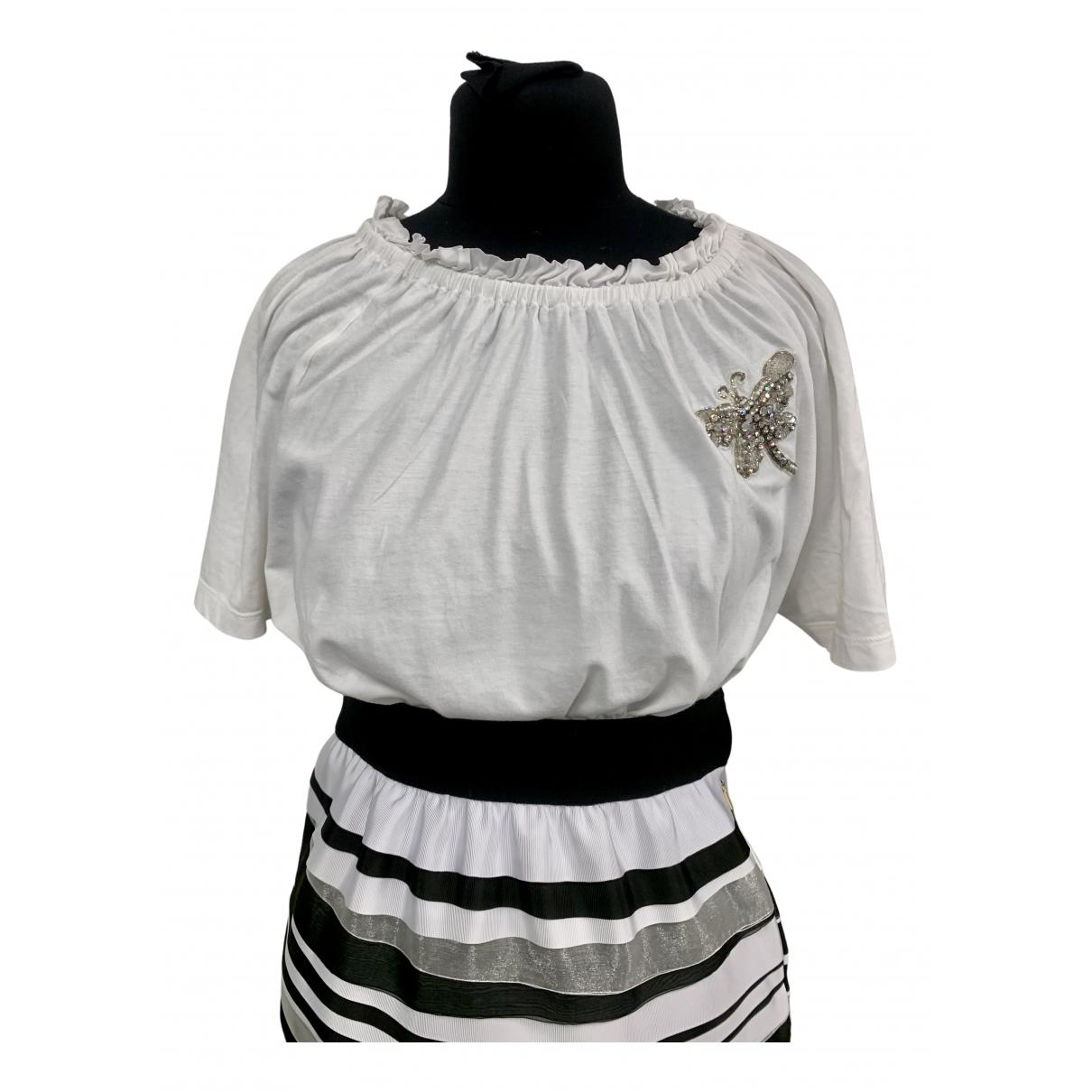 Needle & Thread - Top   pour femme en coton - blanc