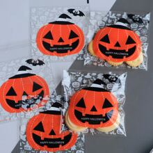 100 piezas bolsa de paquete con patron de halloween
