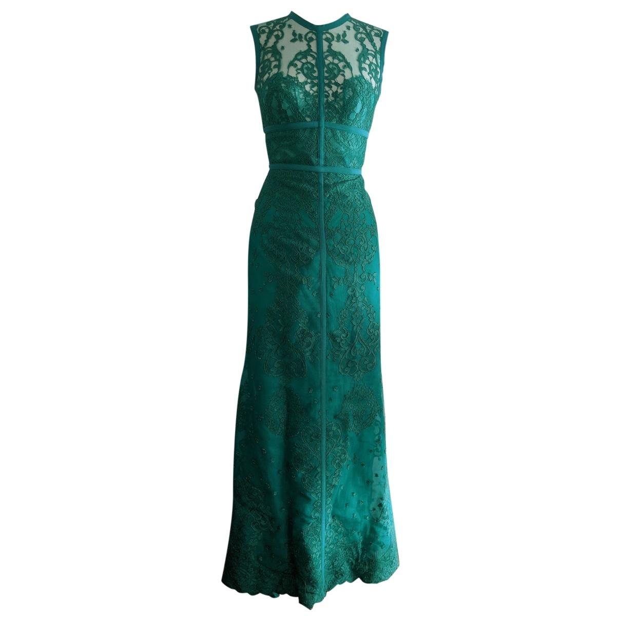 Elie Saab - Robe   pour femme en dentelle - vert