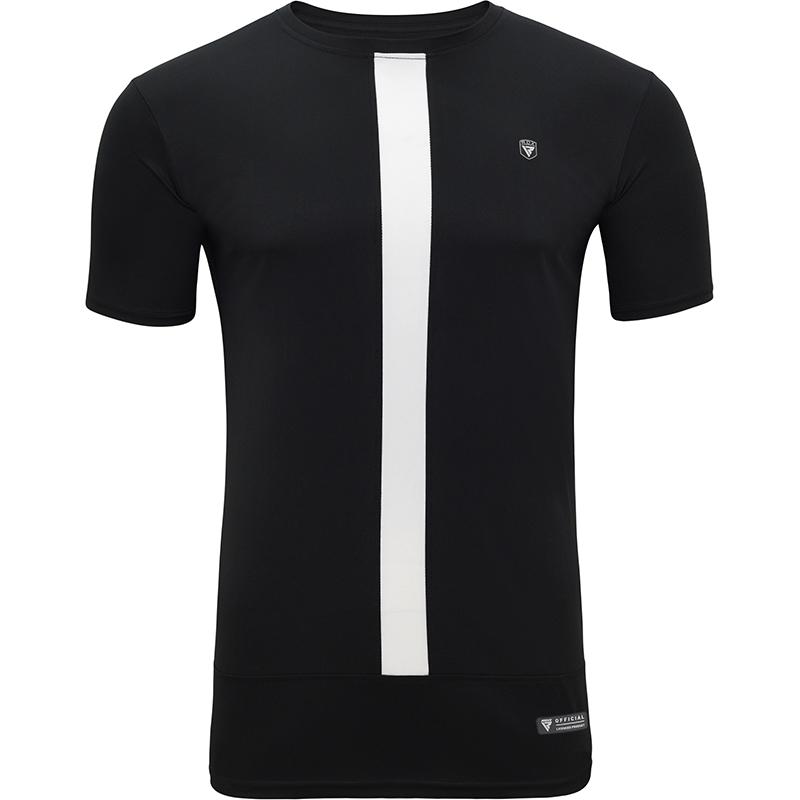 RDX T15 Nero T-shirt Noir et Blanc a Manches Courtes S Blanc noir Polyester