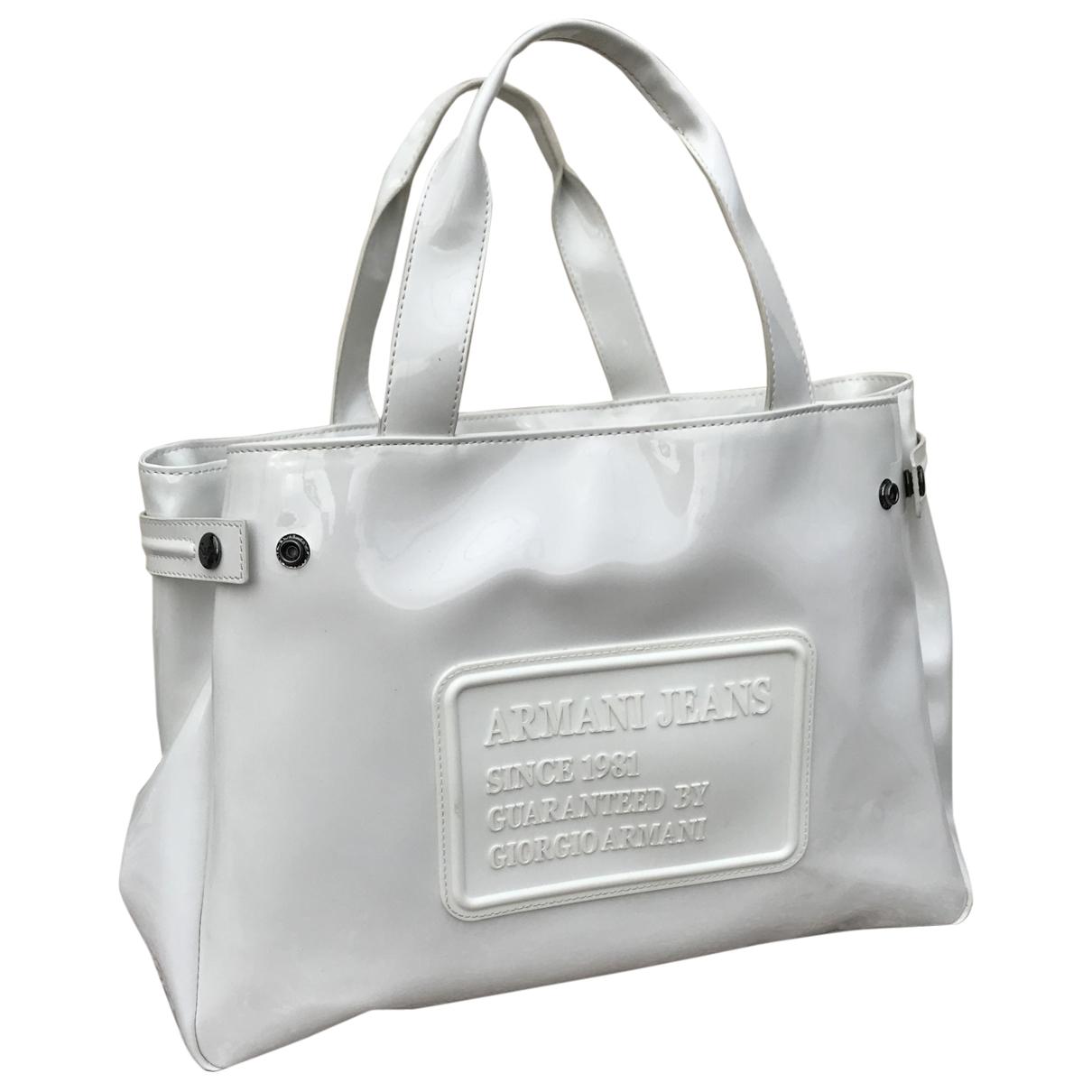 Armani Jeans \N Handtasche in  Weiss Kunststoff