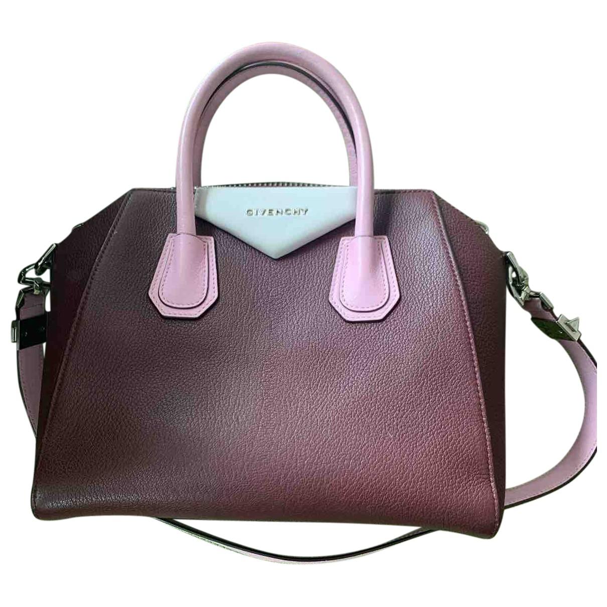 Givenchy - Sac a main Antigona pour femme en cuir - bordeaux