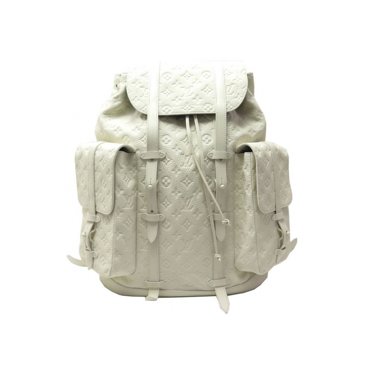 Louis Vuitton Christopher Backpack White Leather bag for Men \N