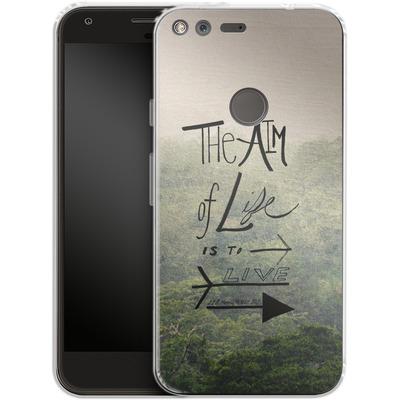 Google Pixel Silikon Handyhuelle - Aim of Life von Leah Flores
