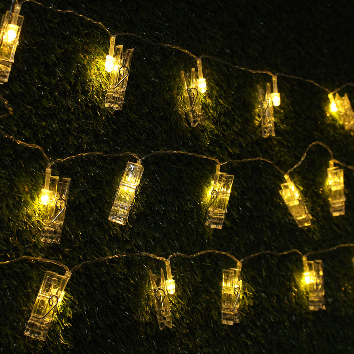 5M 40LED Battery Power Photo Peg Clip Shape Fairy String Light Hanging Picture Christmas Decor