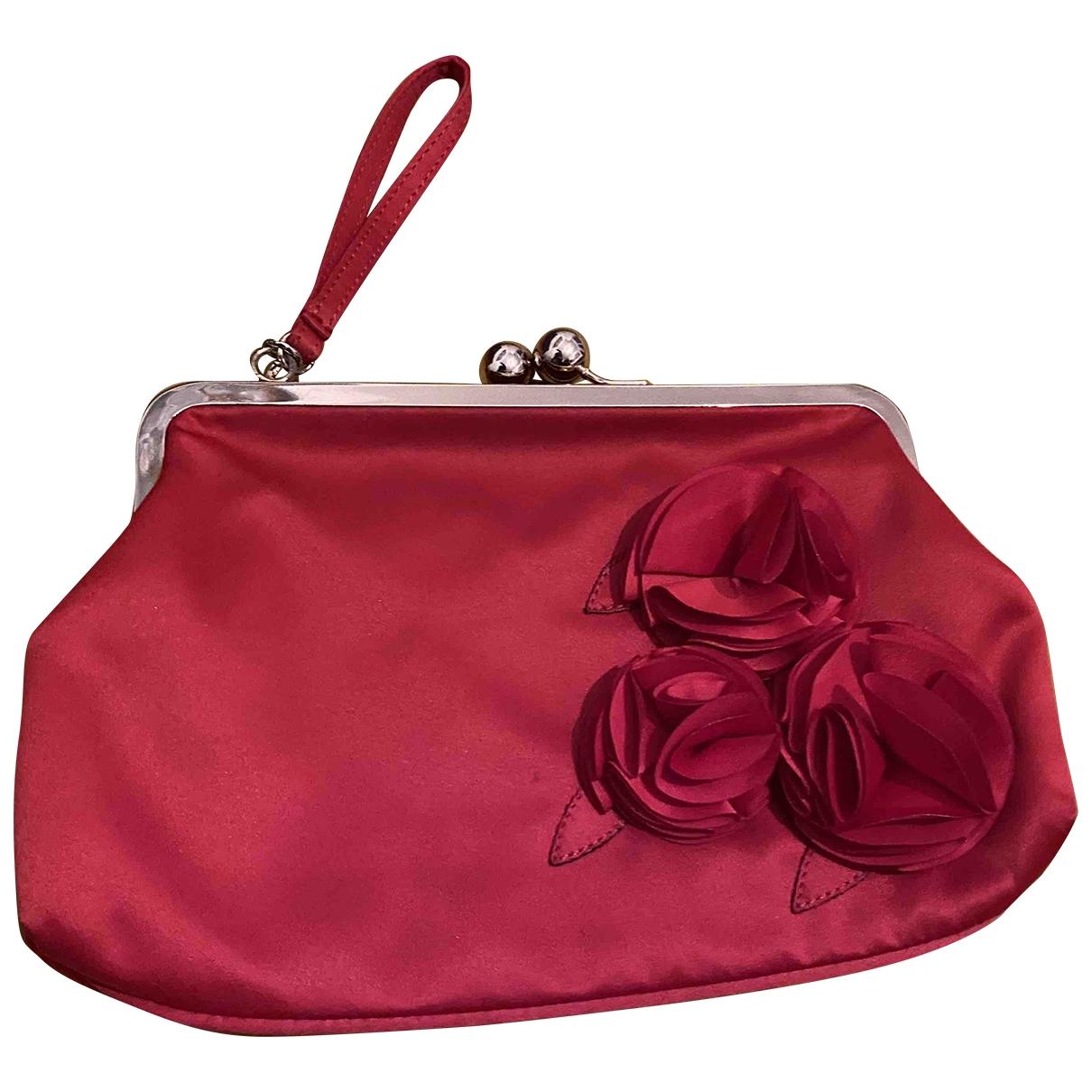 Moschino Love \N Clutch in  Rot Baumwolle