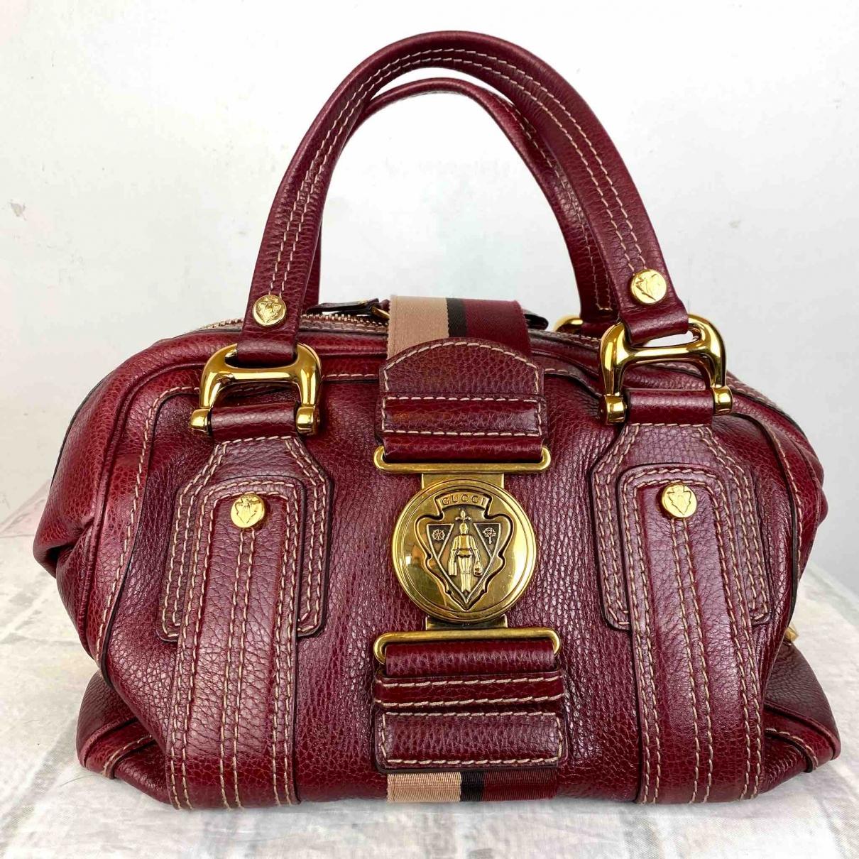 Gucci Hysteria Burgundy Leather handbag for Women \N