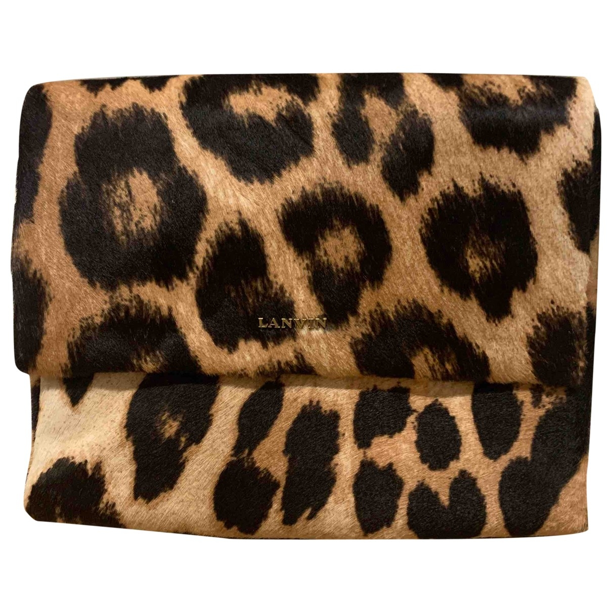 Lanvin Happy Beige Pony-style calfskin handbag for Women \N