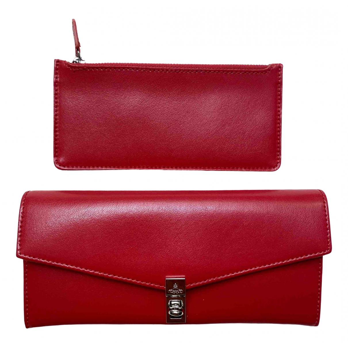 Vivienne Westwood \N Portemonnaie in  Rot Leder