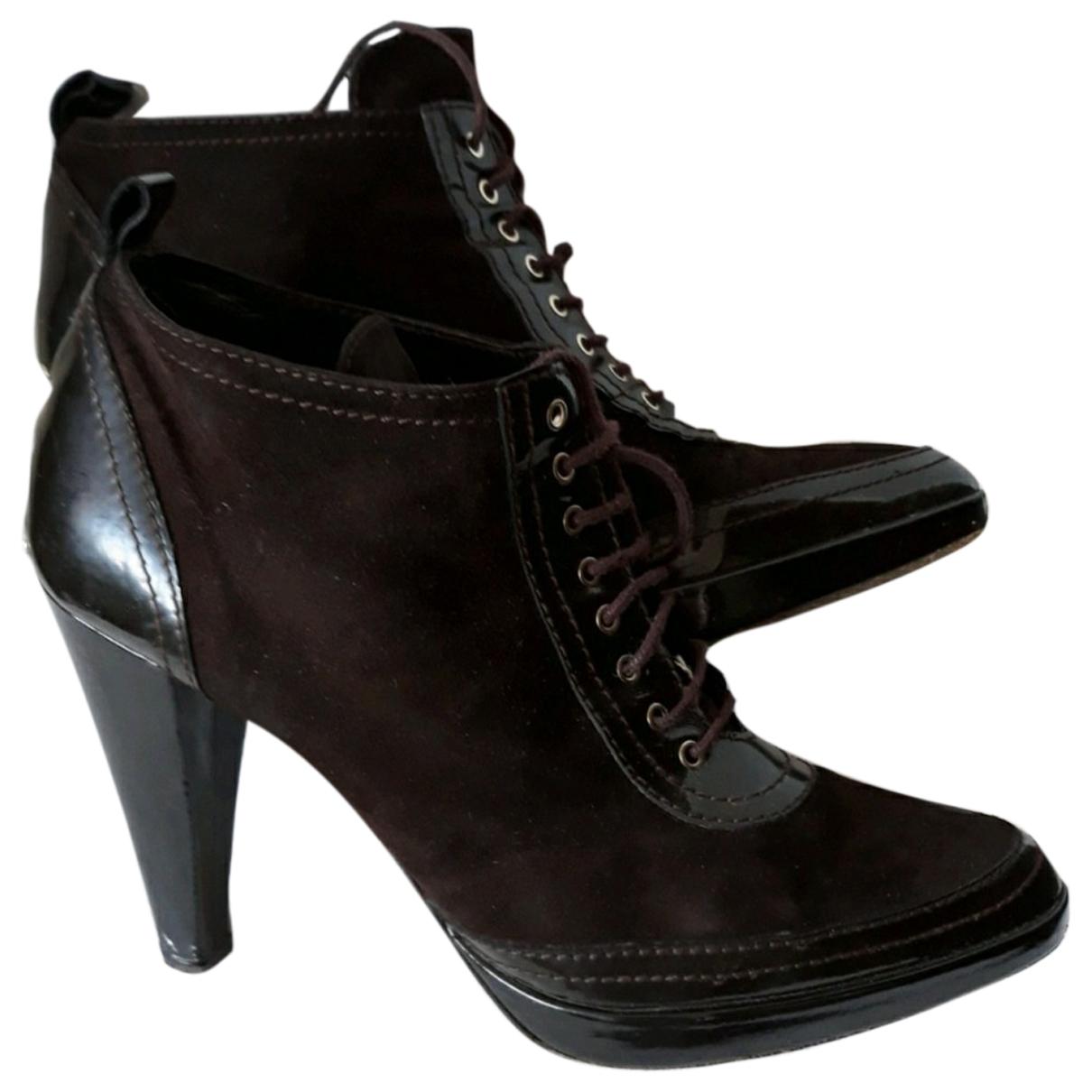 Bimba Y Lola - Boots   pour femme en suede - marron