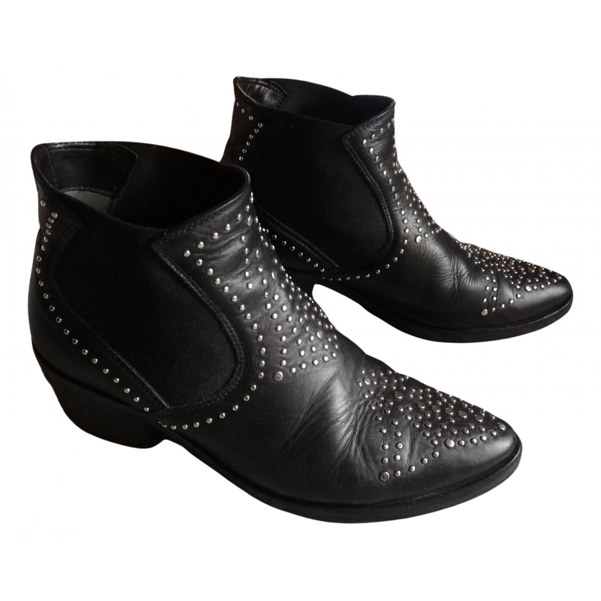 Janet & Janet - Bottes   pour femme en cuir - noir