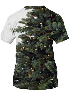 Loose Model Polyester Christmas Vibrant Color 3D T-Shirt