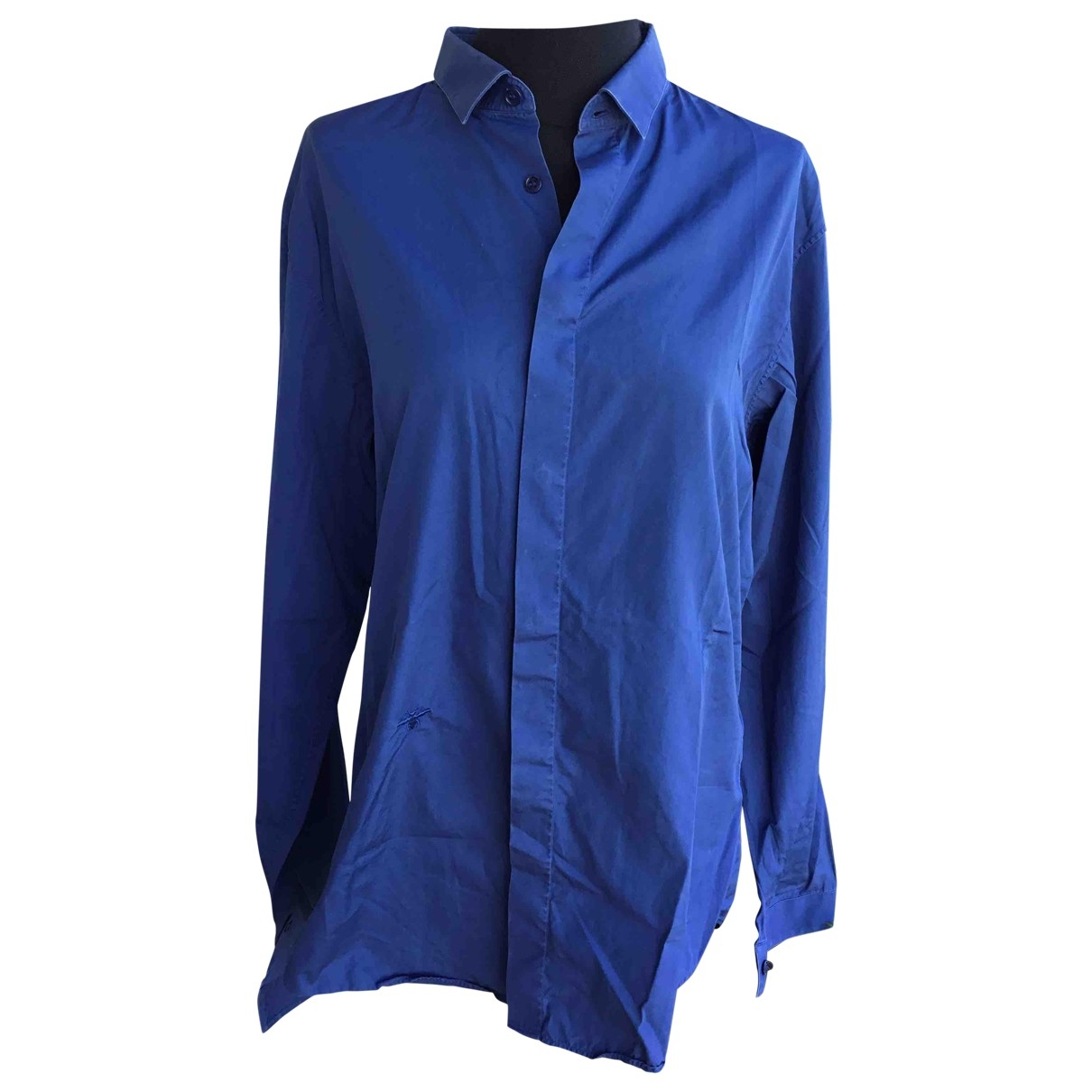 Dior Homme \N Navy Cotton Shirts for Men 40 EU (tour de cou / collar)