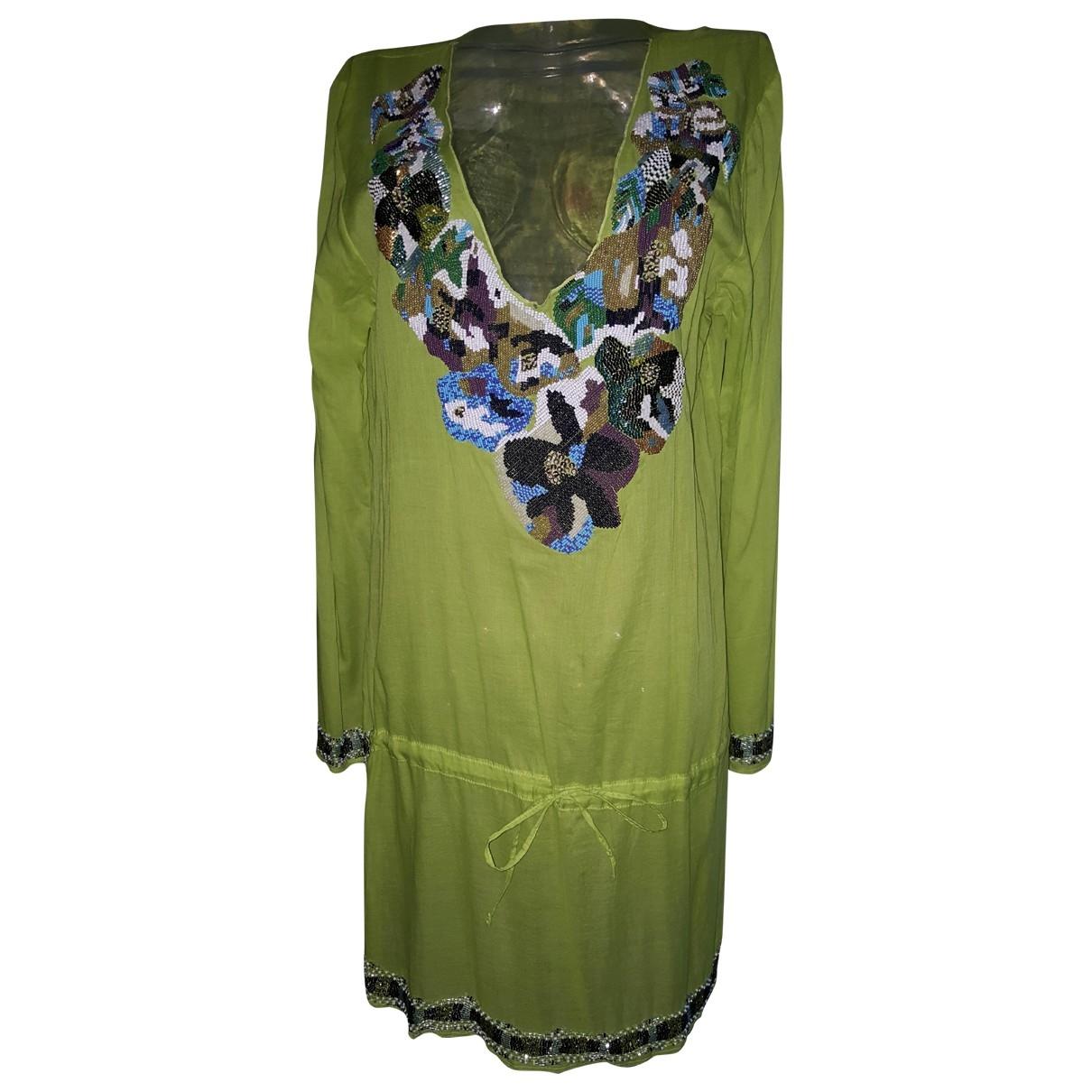 Emamo - Robe   pour femme en coton - vert