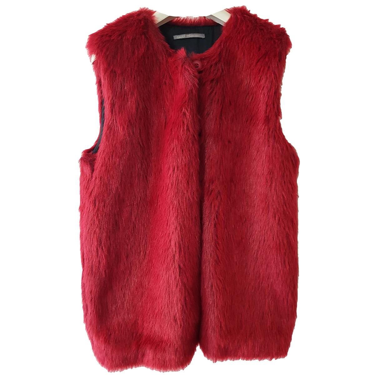 - Veste   pour femme en fourrure synthetique - rouge