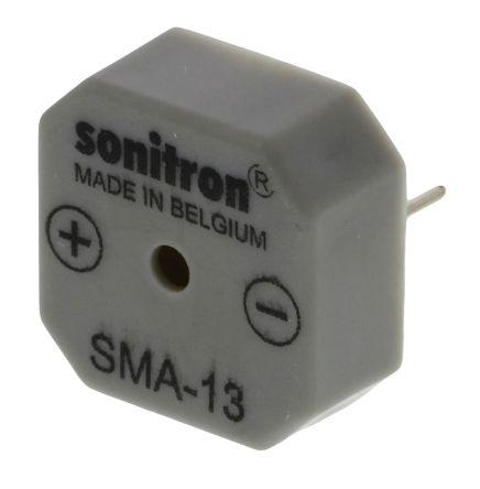 Sonitron 75dB Through Hole Continuous Internal Buzzer, 2985 → 3015 Hz
